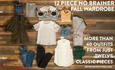 12 piece no brainer fall wardrobe