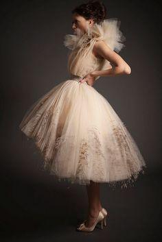 most amazing tulle wedding dress EVER....