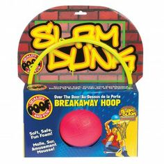 Transform your room into a slam-dunk competition! Easily hangs over the door. The breakaway hoop can be bent when a player dunks and snaps back into place once released! Comes with a foam basketball for hours of slam-dunk fun! Ages 5+