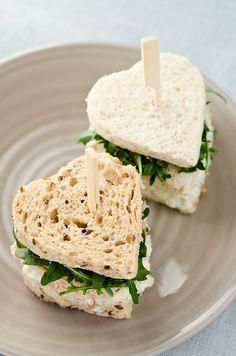 Heart Shaped Tea Sandwiches