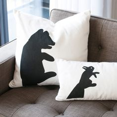 Gus Graphic Pillows. How cool are these?