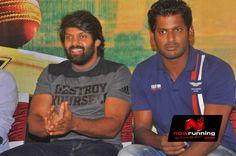 Arya and Vishal at Jeeva Movie Audio Launch