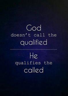 God calls...