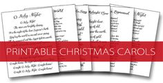 Printable Christmas Carols {101 Days of Christmas at lifeyourway.net}