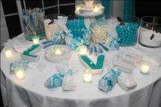 Love this candy table idea