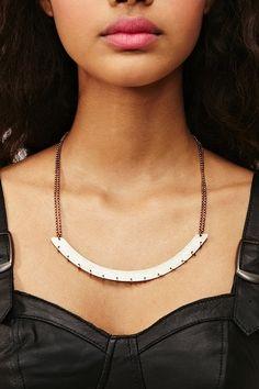 Pierced Sheet Metal Necklace