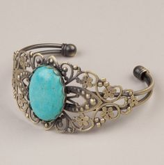 Antique Cuff with Turquoise