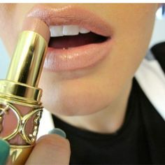 The best nude lipstick - YSL sweet honey.