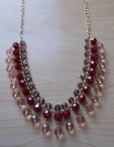 On Valentine's Day, triple the glamor with this Sweetheart Beaded Necklace Pattern.