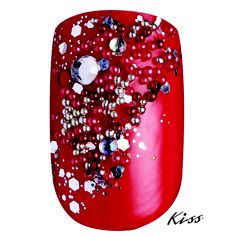 "Created Using #KissProducts Disney Villains Nail Art Kit in ""Cruella""."
