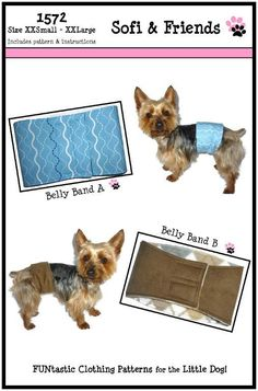 how to make belly bands for dogs
