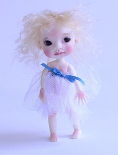 """Ningyo by Kim Lasher.  Preorder at the end of 2012?  She is 4.5"""" tall.  Loving her!"""