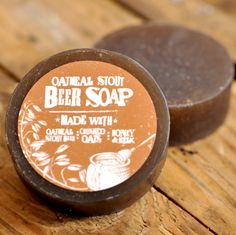 Let Dad Bathe in Beer!  Beer Soap with Oatmeal Stout Beer, Crushed Oats, Honey, and Milk - from Swag Brewery.