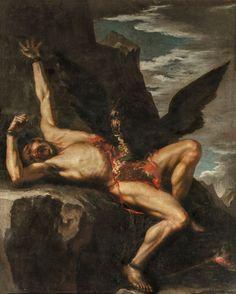 The Punishment of Prometheus, Salvator Rosa. Oil on canvas, 344 x 214 cm, 1648 - 1650, Galleria Nazionale dÁrte Antica di Palazzo Corsini
