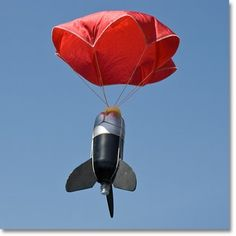 Water rocket with parachute