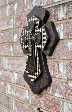 Layered Wooden Cross // Wall Decoration by FicklePickleDesigns, $24.95