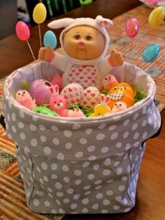 Mini-Utility bin filled and ready for Easter - Thirty One Gifts