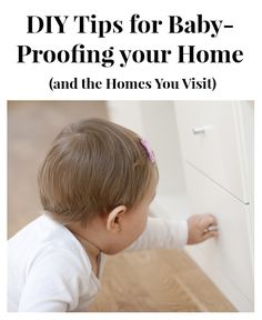 When your baby starts moving around, use these do-it-yourself tips to make your house, or those that your baby visits, safer. Even if you have permanent baby proofing solutions in place, we've listed some tips for temporary options for when you take the little bundle to parents' or friends' houses.