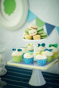 Silhouette Little Man Theme cupcak, dessert bar, birthday parties, birthday idea, dessert tabl, boy birthday, 1st birthdays, parti idea, kara parti