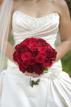 Red Bridal Bouquet.