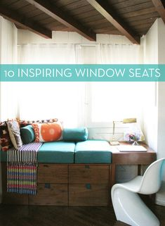 10 Cozy Window Seats + A Tutorial