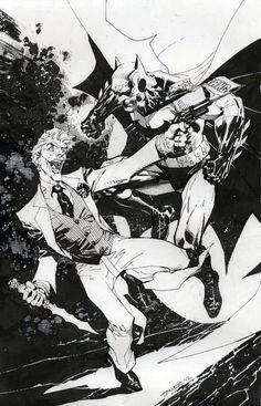 Batman vs Joker by Jim Lee