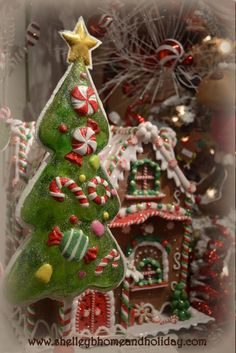 Tall Clear Candy Tree, this is a great backdrop for Christmas house collections, sold as a set of 2 in 2 sizes shelley b home and holiday holiday, clear candi, candy trees, candi tree, gingerbread hous, christmas houses