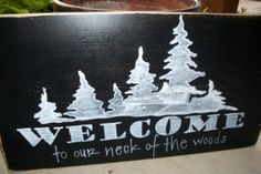 lake cabin sign ideas craft, rustic welcome sign, cabin signs, wood signs, lake cabin, cabin idea, lake signs, lakes, cabin porch
