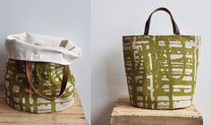 Bucket tote from Bookhou