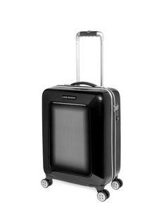 ONROUTE | Herringbone cabin suitcase - Black | Bags | Ted Baker