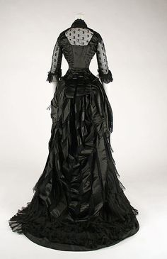 Black Victorian mourning dress