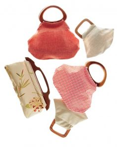 Wooden-Handle Bags -  Make these yourself!