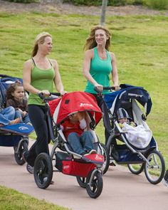 Grab the stroller and get outside today!  5 ways to workout outside with baby