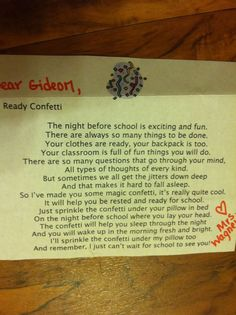 """back to school letter---for the kids to """"know"""" you before you meet"""