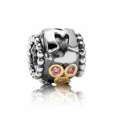 Pandora Two-Tone Mom Salmon Cubic Zirconia Charm - Item 19141928   REEDS Jewelers