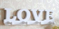 Love Style Hooks Love Eureopean Style Wood Wall Shelf Creative Home Decorations $19.98 (44% OFF)