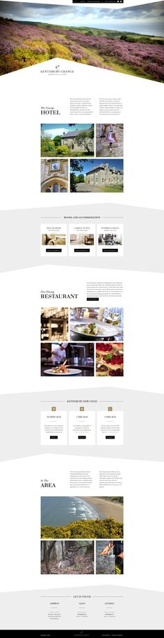 Neat and clean web design for Kentisbury Grange Hotels & Lodges