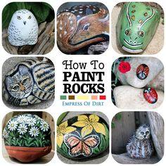 Garden Art That Rocks | Fun craft idea | empressofdirt #hometalk #ebay