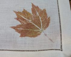 DIY Fall Leaf Linens