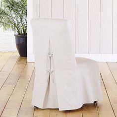 Anna Long Slipcover Collection, Linen | World Market