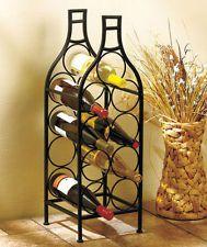 Vineyard kitchen on pinterest metal walls kitchen wall clocks and wine bottle art - Wine rack shaped like wine bottle ...