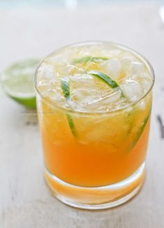 Refreshing Mango Lime Spritzer perfect for Summer Entertaining