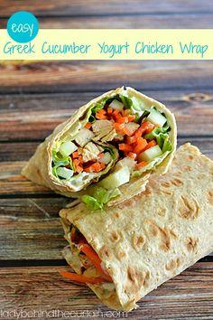 Easy Greek Cucumber Yogurt Chicken Wrap Recipe