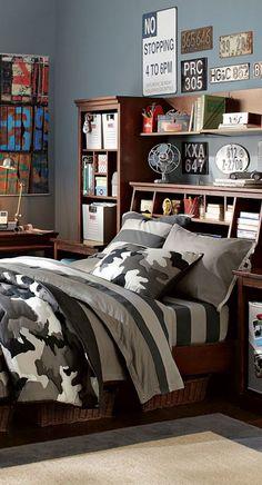 Classic Camo Bedding #teen bedrooms #teen #boy #bedding