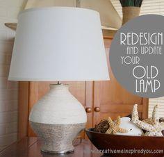 lamp, upcycle, recycle, home decor, decor, decorating, revamp, DIY, handmade, homemade