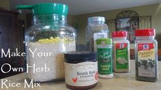 Easy recipe for herb rice mix. Healthy and tastes better than store bought!  Only pennies per serving.