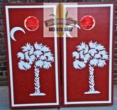 Order yours from Jake's Custom Cornhole - Big Red