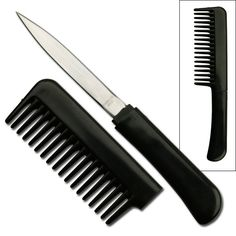 hidden defense items - comb knife