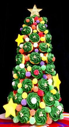 Tree of Cupcakes for Christmas. . . .   the Very Best Time of Year !!