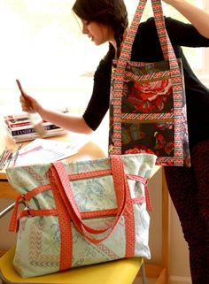 Anna Maria Horner art student tote pattern, looks like a must have!!!